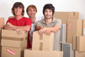 Young men moving house Royalty Free Stock Images