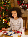 Young mixed race child at home Royalty Free Stock Photo