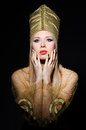 Young model in personification of egyptian beauty Royalty Free Stock Photography