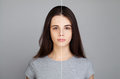 Young Model Woman with Skin Problem. Female Face