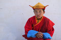 Young monk buddhist in gandan monastery on july in ulan bataar mongolia buddhism remains the most widely practiced religion in Stock Photo