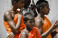 Young monks buddhist attending a sri lankan parade Stock Photography