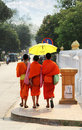 Young Monks in Laos Stock Photography