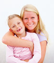 Young mother with her cute daughter Royalty Free Stock Photo