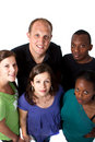 Young multiracial group Stock Photos
