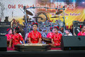 Young musicians on on a stage phuket thailand feb unidentified musician s play during annual old phuket town festival Royalty Free Stock Image