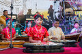 Young musicians on on a stage phuket thailand feb unidentified musician s play during annual old phuket town festival Stock Image