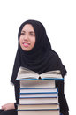 Young muslim female student with books Stock Photos