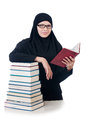Young muslim female student with books Stock Image