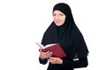 Young muslim female student with books Royalty Free Stock Image