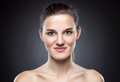 Young natural woman with great skin complexion naturally beautiful Royalty Free Stock Image