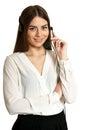 Young nice call operator woman Royalty Free Stock Photo