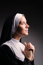 Young nun Stock Photography