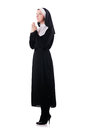 Young nun religious concept Stock Photos
