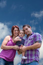 Young parents and baby girl Royalty Free Stock Photo