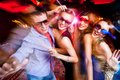 Young party group of people having fun dancing at Royalty Free Stock Photo