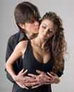 Young passionate hugging couple Royalty Free Stock Photo