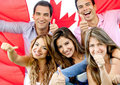 Young people in Canada Stock Image