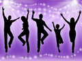 Young people dancing Royalty Free Stock Image