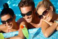 Young people having summer fun in water Royalty Free Stock Photo