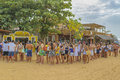 Young People Queuing at Jericoacoara Brazil