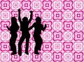 Young people on retro background Royalty Free Stock Image