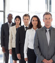 Young positive Business team looking at camera Royalty Free Stock Photo