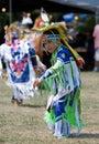 Young Powwow Grass Dancer Stock Photos