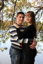 Young pregnant couple  Royalty Free Stock Photography