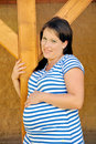 Young pregnant woman standing Royalty Free Stock Images