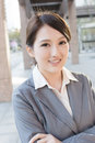 Young pretty Asian business woman portrait Royalty Free Stock Photo