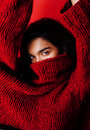 Young pretty indian mulatto girl in red sweater posing emotional, fashion hipster teenage, lifestyle people concept Royalty Free Stock Photo