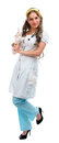 Young pretty nurse standing isolated Royalty Free Stock Photo