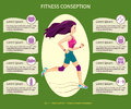 Young pretty running girl, fitness and health conception, web design.