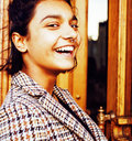 Young pretty student teenage indian girl in doors happy smiling, Royalty Free Stock Photo
