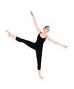 Young professional dancer female stretching Royalty Free Stock Images