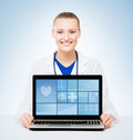 Young and professional woman doctor Royalty Free Stock Photo
