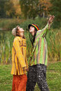 Young rastafarian people outdoor Royalty Free Stock Images