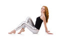 Young redhead girl in tight leggings Stock Photography