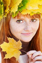 Young redhead teenager woman Royalty Free Stock Photography