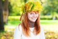 Young redhead teenager woman Stock Photos