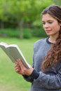 Young relaxed girl reading a book Stock Photos