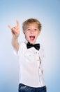 Young rocker boy Royalty Free Stock Photo