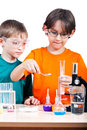 Young scientists Royalty Free Stock Photos
