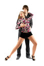 Young sensual couple dancing tango Royalty Free Stock Photo
