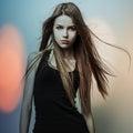 Mladý smyslný krása žena