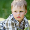 Of young serious boy Royalty Free Stock Photo