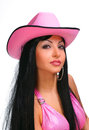 Young sexy woman in cowboy hat Royalty Free Stock Image