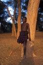 Young shepherd Turkana (Kenya) Royalty Free Stock Photo