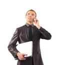 A young and smart businessman talking on the phone Royalty Free Stock Images